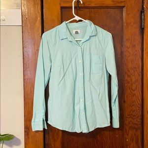 Old Navy Tiffany Blue button up size M